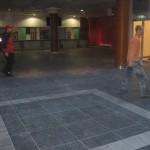Plaatimistööd Solarise keskuse teatriosa peatrepil,fuajees ja teatribaaris, Tallinn 2009 a. 7