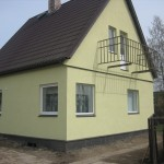 Insulation plaster for private house in Viljandi